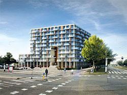 Begin bouw Poort van Toorop Amsterdam
