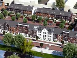 Begin bouw De weg naar Kralingen Rotterdam