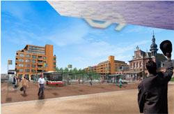 Schetsontwerp Palmbout voor Delfts spoorzonegebied