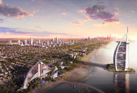 Dubai ontwikkelt nieuw stadsdeel op palmeiland
