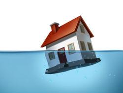 Minder huizen onder water