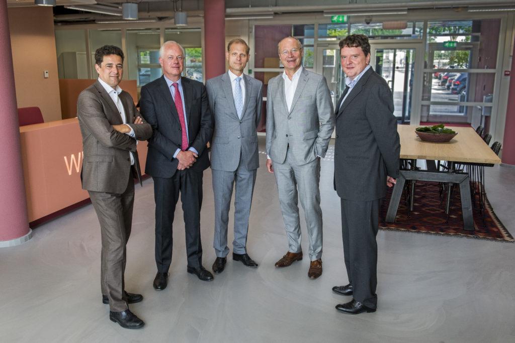 Marcel de Boer, Jan Willem van Roggen, Roel Vollebregt, Dick van Hal en Johannes van Bentum