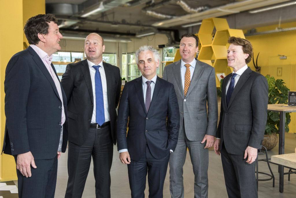 Johannes van Bentum, Wouter de Bever, Boris van der Gijp, Maarten van Duijn en Jeroen Lokerse
