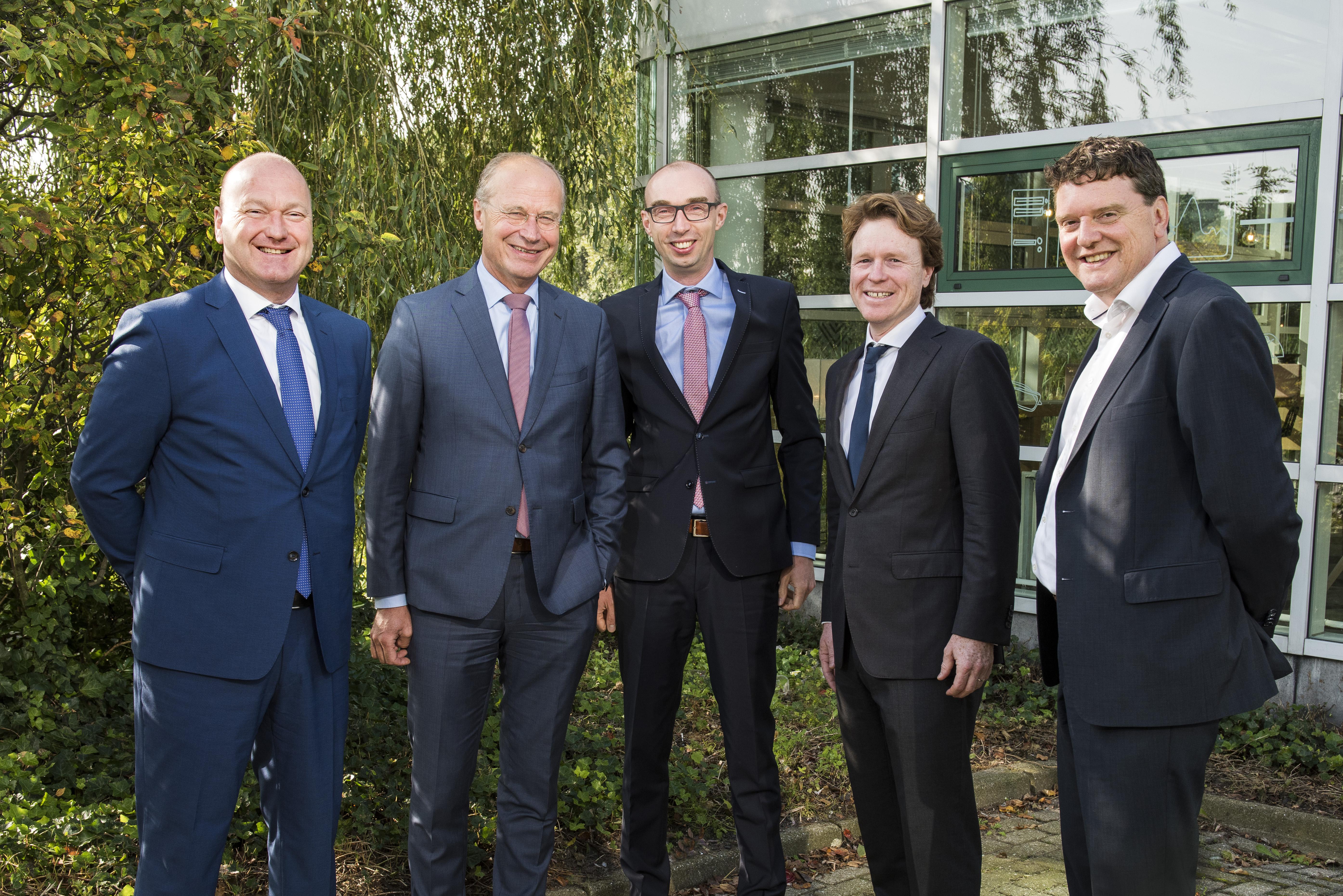 Woude de Bever, Dick van Hal, Henri van Dam, Jeroen Lokerse en Johannes van Bentum