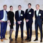 De vijf genomineerden voor de Yardi/Vastgoedmarkt Young Talent Award 2017