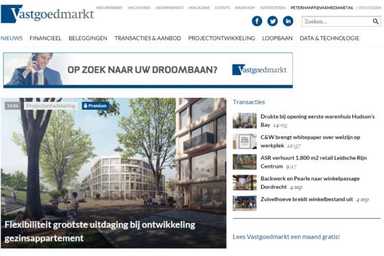 Website Vastgoedmarkt ook op datum doorzoekbaar