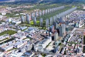 MVRDV: massale hoogbouw rond 'Central Park' Den Haag