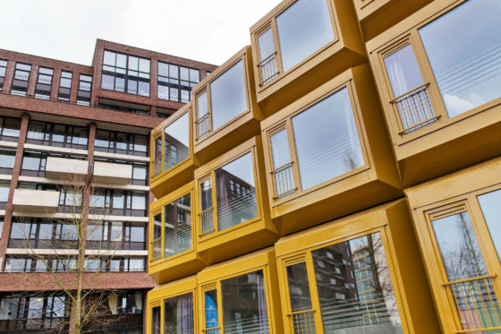 Kantoorgebouw Woonbedrijf getransformeerd tot 101 studio's