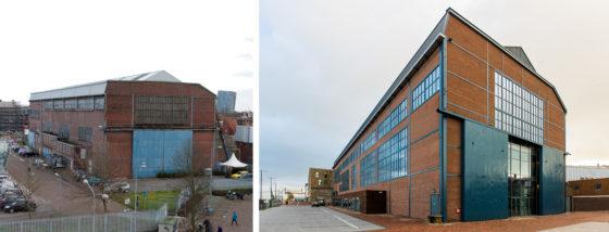 Woonzorgcentrum Scheldehof in Vlissingen. Het exterieur voor en na de transformatie.