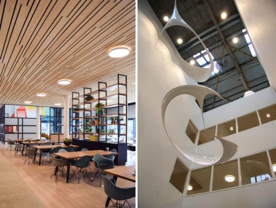 Woonzorgcentrum Scheldehof in Vlissingen. Het publiek toegankelijke restaurant van het woonzorgcentrum.