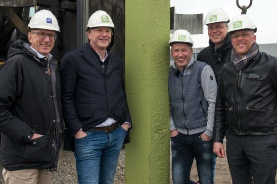 Feestelijke paal nieuwbouw Euroma Zwolle
