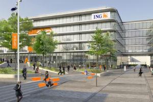 Bouw hoofdkantoor ING bereikt hoogste punt
