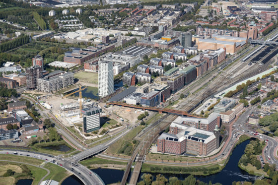 Luchtfoto Paleiskwartier, Den Bosch