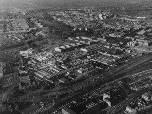 Luchtfoto Paleiskwartier, oude situatie, Den Bosch