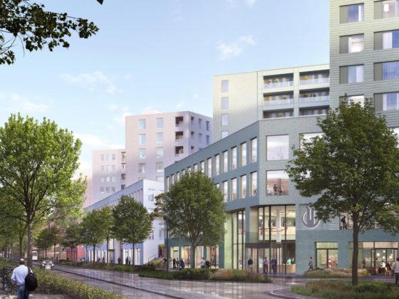 Stationsgebied Breda: drie nieuwe grote gebouwen
