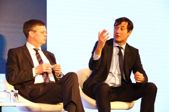 Jan Peter Balkenende  met Gilles Moëc, ULI-conferentie Londen 2019