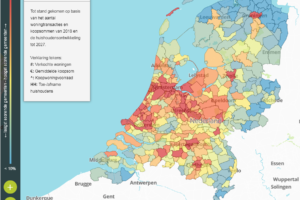 Hittekaart woningmarkt: ook de buren moeten eraan geloven