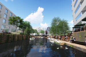 Breda trekt de rivier de stad in