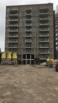 Huurappartementen in aanbouw aan Pim Mulierlaan, Haarlem