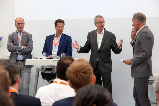 Lorenzo Dorigo, Marcel de Boer, Cyril van den Hoogen en Tom Berkhout