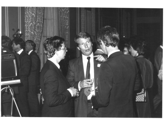 Robert van Duyl (midden), 1983
